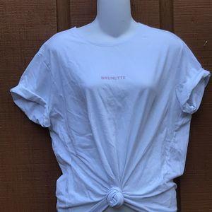 Brunette The Label Ryan Mini Graphic Tee Shirt